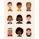 Happy Young People Avatar Icon Set - GraphicRiver Item for Sale