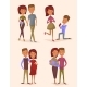 Happy Young Family Couple Set - GraphicRiver Item for Sale