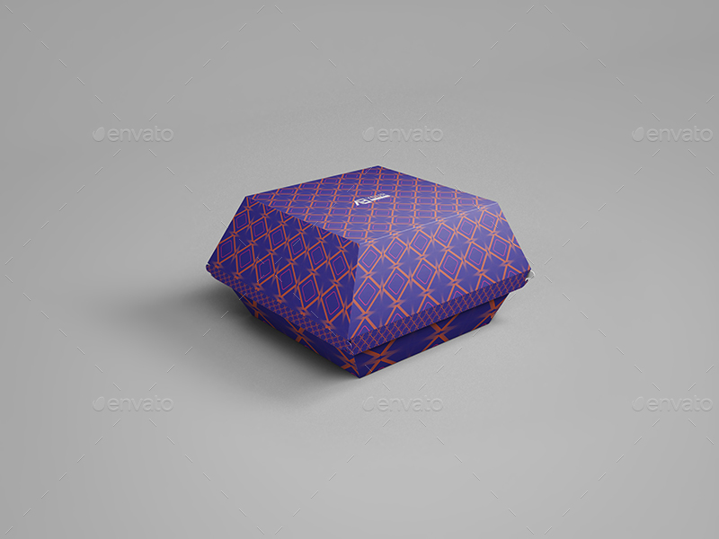 Paper Burger Box Mockup By Wutip Graphicriver