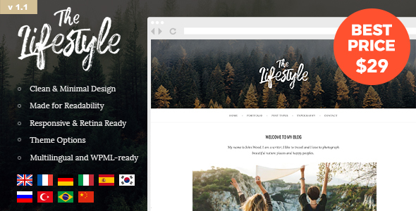The Lifestyle – Vintage, Minimal and Simple WordPress Blog Theme
