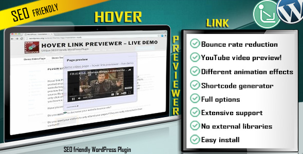 Hover Link Previewer - SEO Friendly WordPress Plugin! - CodeCanyon Item for Sale