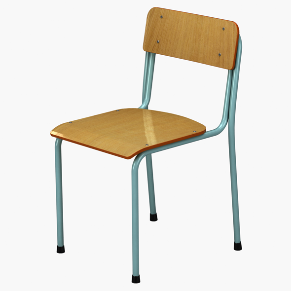 School Chair - 3DOcean Item for Sale