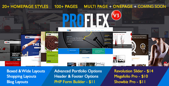 ProFlex Multi-Purpose Responsive Template