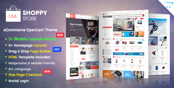 ShoppyStore - Responsive Multipurpose OpenCart 2.3 and 2.2 Theme