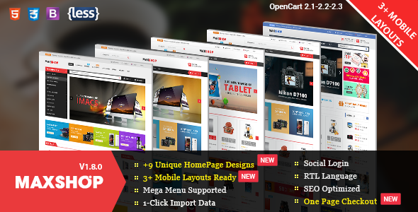 MaxShop - Fastest & Responsive Multipurpose OpenCart 2.3 and 2.2 Theme