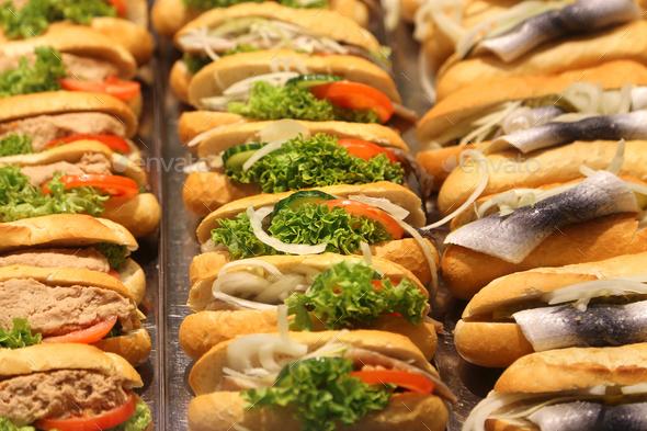 Fresh sandwiches - Stock Photo - Images