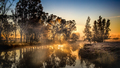 frosty river sunrise - PhotoDune Item for Sale