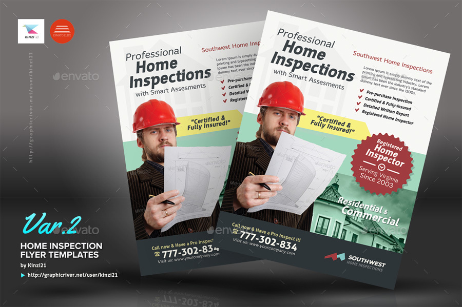 Home Inspection Flyer Templates by kinzi21 | GraphicRiver
