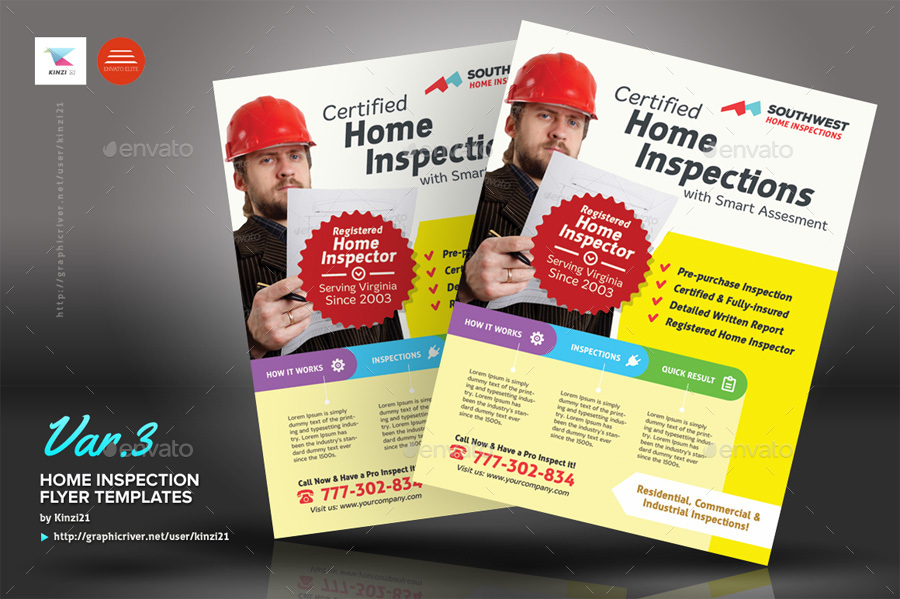 home inspection flyer templates by kinzi21 graphicriver