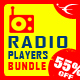ShoutCast and IceCast HTML5 Radio Players Bundle