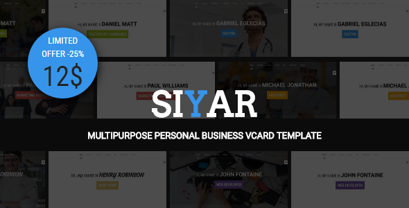 Siyar – Multipurpose Personal Business VCard + Builder