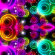 Abstract Neon Circles Kaleido - VideoHive Item for Sale