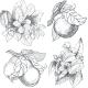 Vintage Botanical Illustration Flowers and Fruits - GraphicRiver Item for Sale