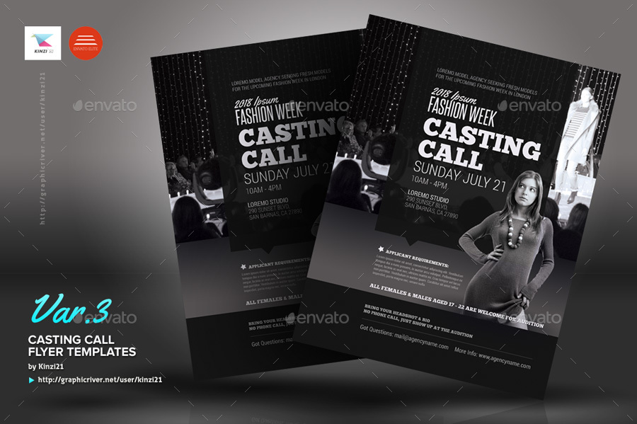 movie brochure template - casting call flyer templates by kinzi21 graphicriver