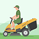 Man Mowing Lawn - GraphicRiver Item for Sale