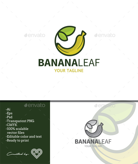 Banana Leaf - Food Logo Templates