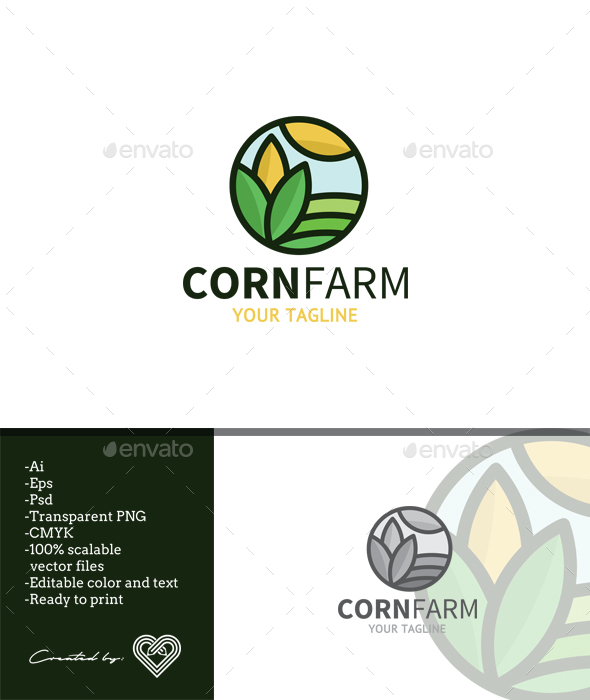 Corn Farm - Nature Logo Templates