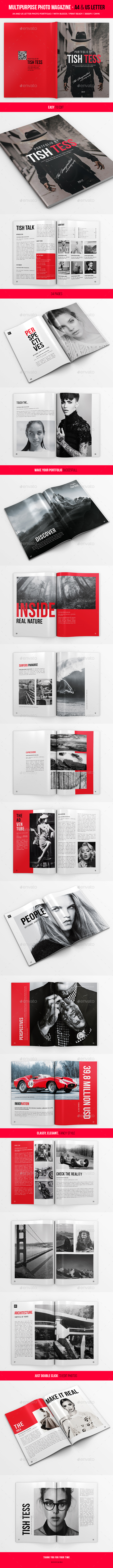 Multipurpose Photo Portfolio - US Letter and A4 - 34pgs - Portfolio Brochures