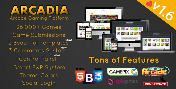Arcadia - Arcade Gaming Platform - CodeCanyon Item for Sale