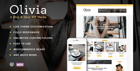 Olivia - Personal Blog & Shop WordPress Theme - Blog / Magazine WordPress