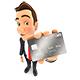 3D Businessman Credit Card - GraphicRiver Item for Sale
