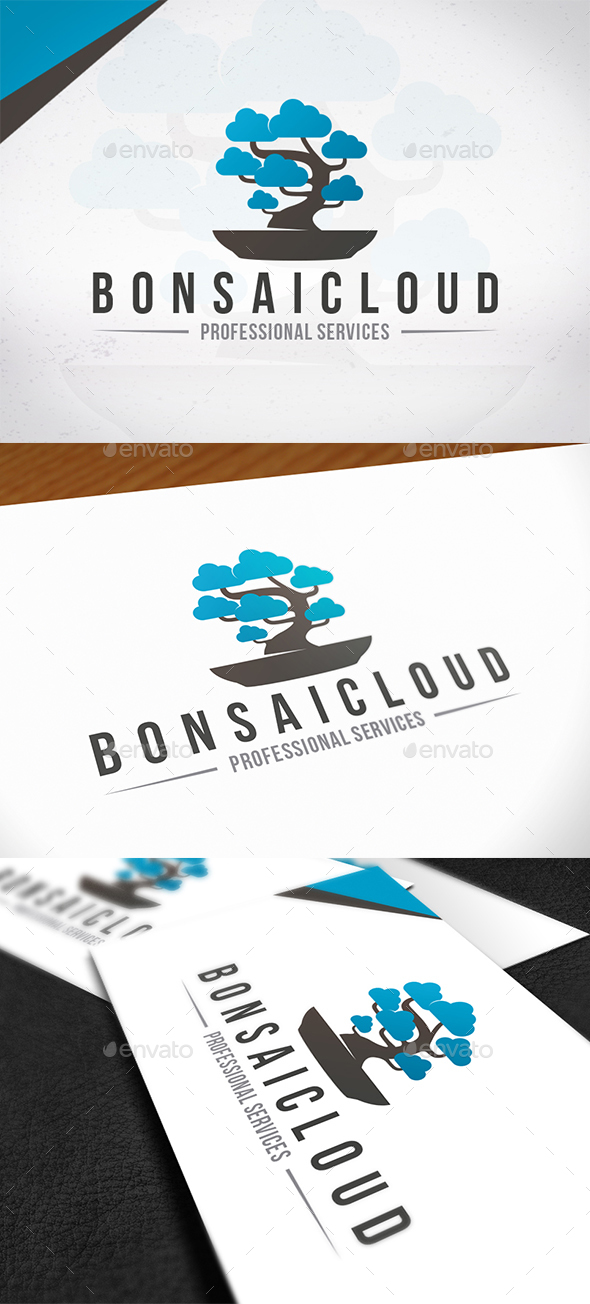 Bonsai Cloud Logo Template - Nature Logo Templates