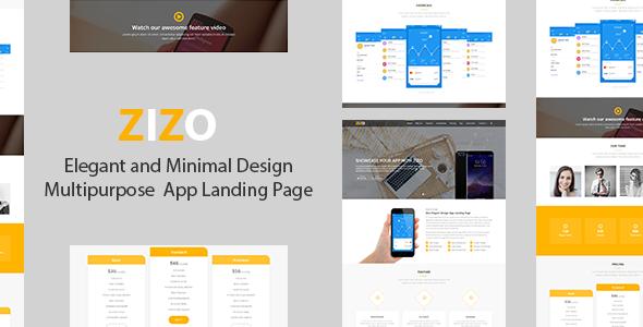 Zizo - Responsive App Landing Page - Site Templates