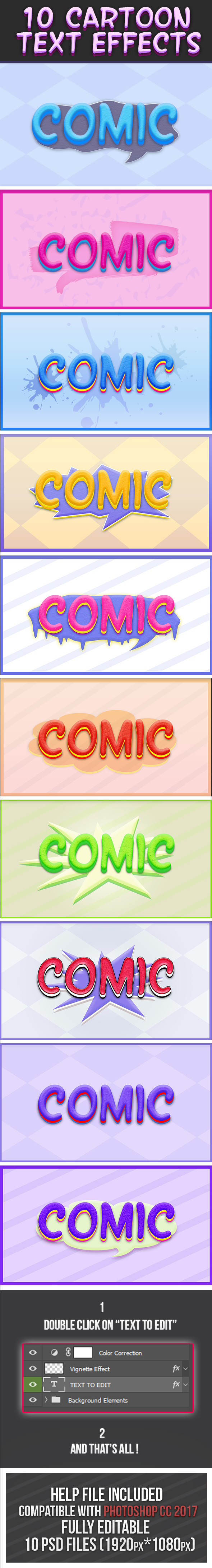 Cartoon Text Effects 4 - Text Effects Styles