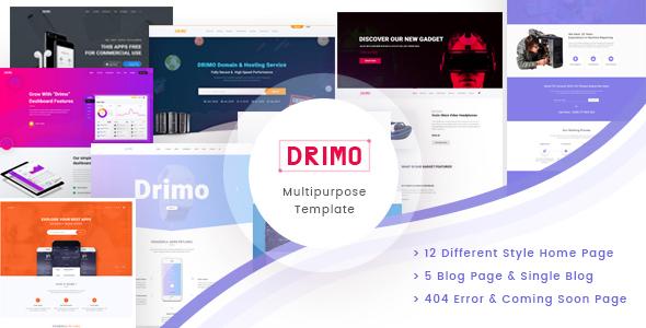 Drimo- Apps,Saas, Hostings, Repairing & Product Landing Page