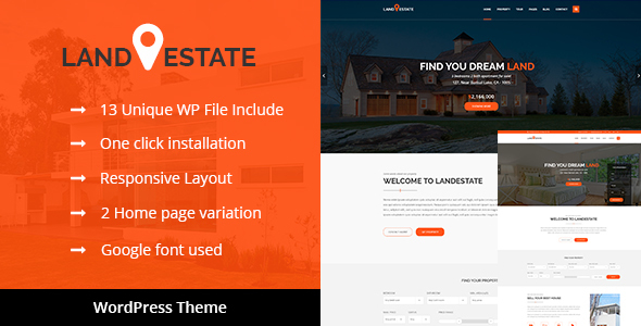 Land Estate - Real Estate/Single Property WordPress Theme - Real Estate WordPress