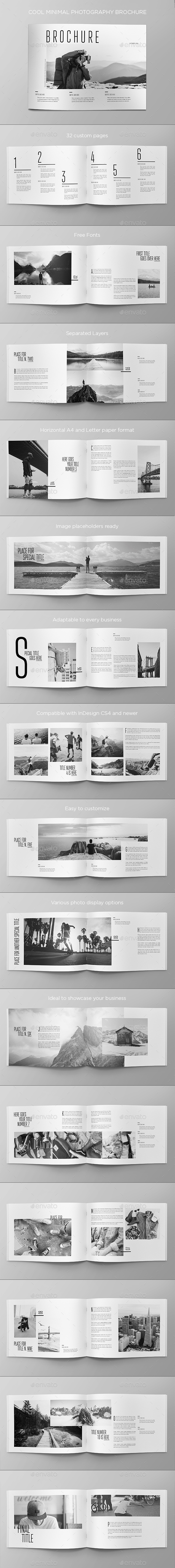 Cool Minimal Photography Brochure - Brochures Print Templates