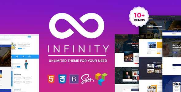One Page Infinity - One Page WordPress Theme