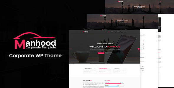 Manhood - Corporate WordPress Theme