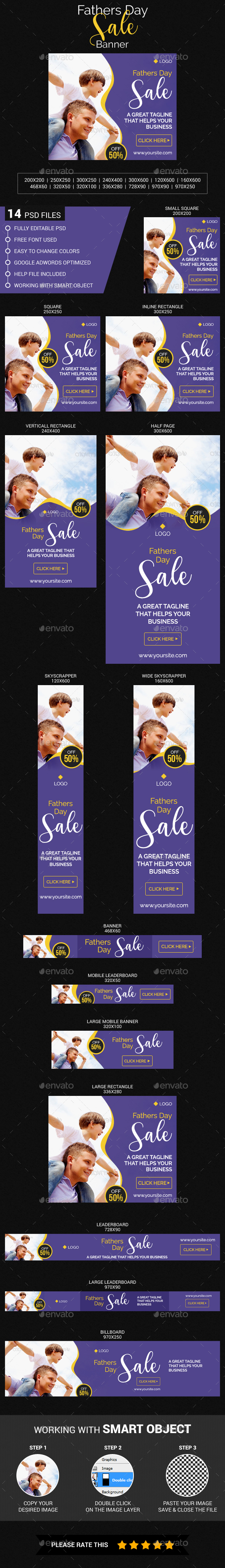 Fathers Day Sale - Banners & Ads Web Elements