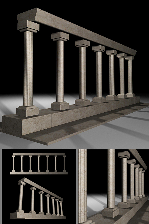 Columns - 3DOcean Item for Sale