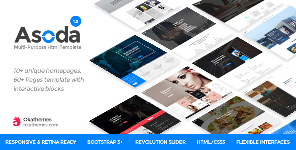 Asoda - Multi-Purpose Responsive Website Template