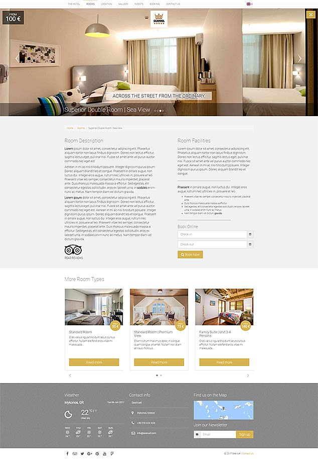 SeaVuel | Multilingual - Hotel website with CMS | Bootstrap 4 theme