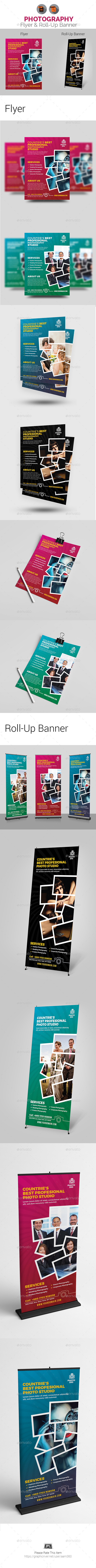 Photography Flyer & Roll-Up Banner - Print Templates
