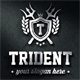 Trident Crest Boutique Luxury Logo Emblems