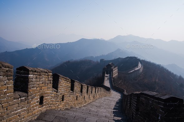 The Great Wall of China, Mutianyu section - Stock Photo - Images