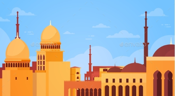 Muslim Cityscape Nabawi Mosque Building Religion - Religion Conceptual