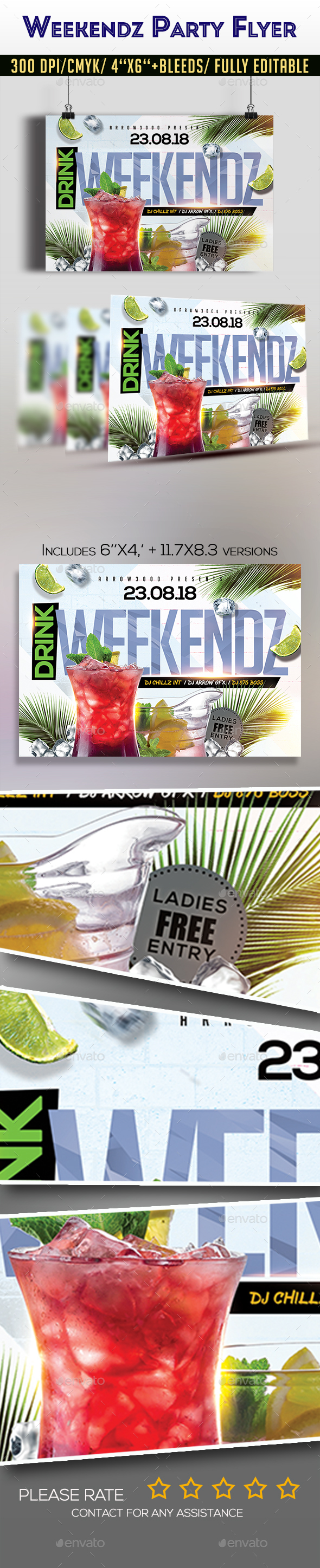 Weekendz Party Flyer - Clubs & Parties Events