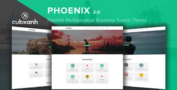 Phoenix - Flexible Multipurpose Business Tumblr Theme - Business Tumblr