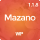 Mazano - Trendy Responsive WordPress Theme Nulled