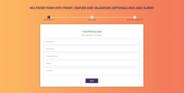 MultiStep Form with Ajax Submit - CodeCanyon Item for Sale
