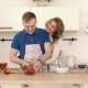 Portraits of a Couple in Love Who Prepare a Salad in the Kitchen. - VideoHive Item for Sale