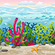 Seamless Underwater Landscape with Separate Layers - GraphicRiver Item for Sale