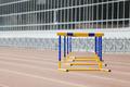 Hurdles at Stadium