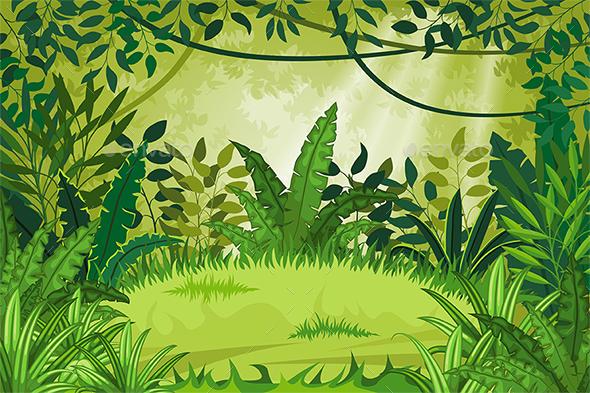 Illustration Jungle Landscape - Landscapes Nature