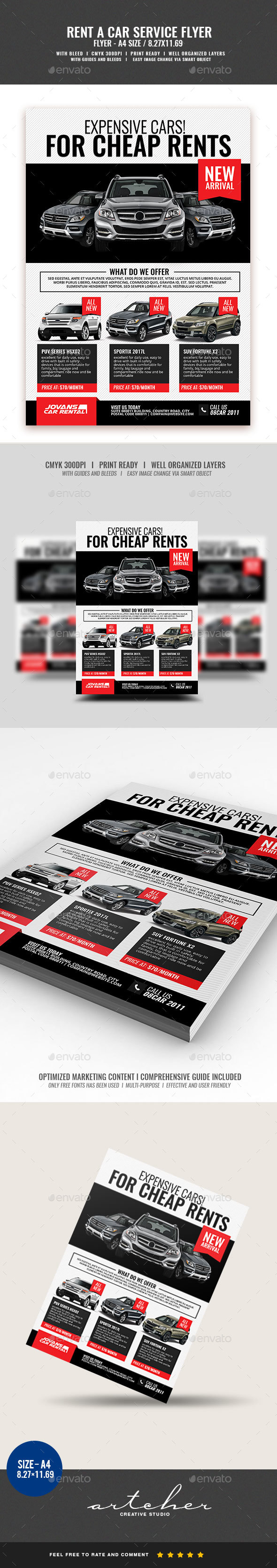 Car Rental and Dealership Flyer - Corporate Flyers